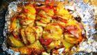 Запеченный картофель веер