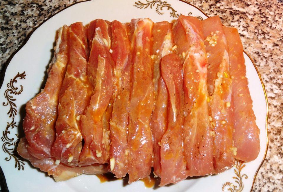 мясо запеченное с картофелем
