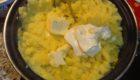 картофельное пюре с сырной пастой