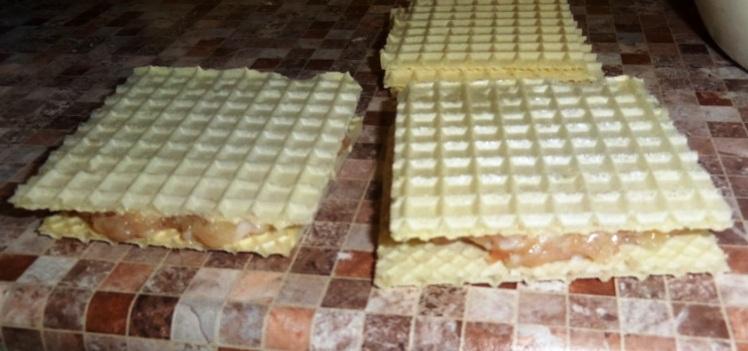 ленивые беляши из вафель